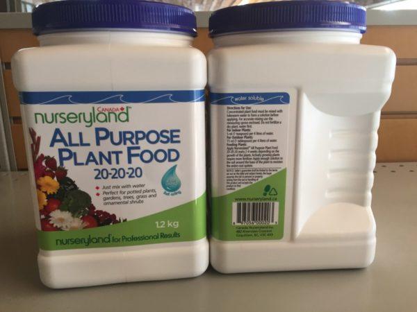 Nurseryland All Purpose Plant Food 20-20-20