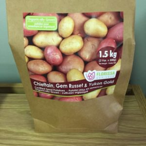 Seed Potatoes Variety Pack - Chieftain, Gem Russet & Yukon Gold
